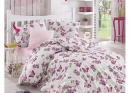 Altinbasak-Lenjerie pat ranforce Butterfly pink