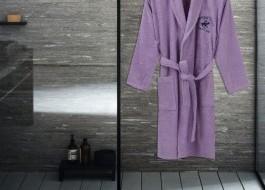 Beverly Hills Polo Club, Halat de baie unisex bumbac, marime L/XL, lila