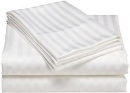 Cearceaf de pat damasc 240x260cm, alb