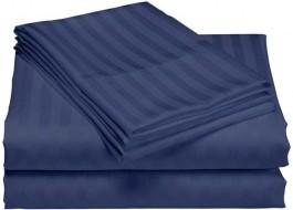 Cearceaf de pat damasc 240x260cm, albastru(bleumarin)