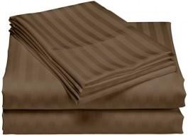 Cearceaf de pat damasc 240x260cm, maro inchis