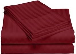 Cearceaf de pat damasc 240x260cm, bordo