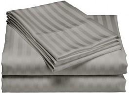 Cearceaf de pat damasc 240x260cm, gri antracit