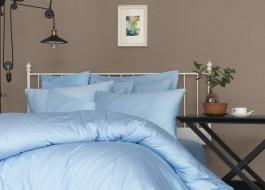 Cearceaf de pat satin cu elastic bumbac 100%, 160x200cm, blue