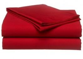 Cearceaf pat rosu 240x260cm drept