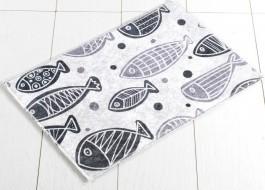 Covoras baie 40x60 cm, Alessia Home, Fish DJT - White