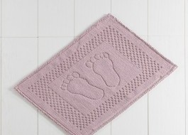 Covoras baie 50x70 cm, Alessia Home, Foet - Dusty Rose