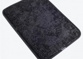 Covoras baie 40x60 cm, Alessia Home, Footprint - Black