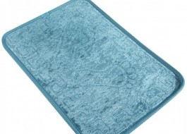 Covoras baie 40x60 cm, Alessia Home, Footprint - Blue