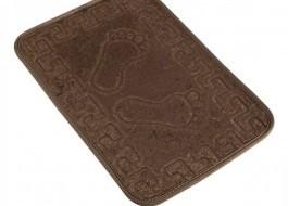 Covoras baie 40x60 cm, Alessia Home, Footprint - Coffee
