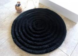 Covoras baie 90cm, Alessia Home, Round - Black