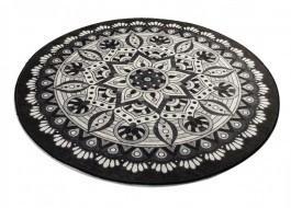 Covoras de baie, Alessia Home, Mandal DJT - Black, 100 cm