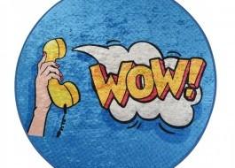 Covoras de baie, Alessia Home, Wow, 100 cm