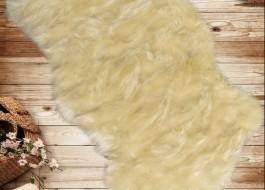 Covoras de baie imitatie blana 60x90cm, Pelus ecru