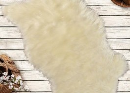 Covoras de baie imitatie blana 60x90cm, Pelus White