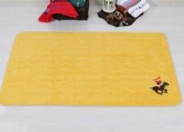 Covoras de baie, polyamide 100%, Beverly Hills Polo Club, 67x120cm, 313 - Yellow