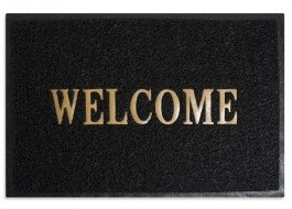 Covoras intrare, 40x60cm, Welcome Black