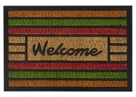 Covoras intrare din fibra de nuca de cocos, 40x60cm, Welcome Multicolor