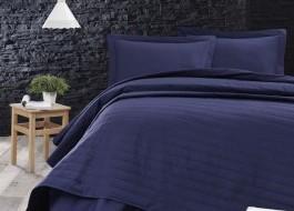 Cuvertura matlasata 220x240cm, Eponj Home, Monart Bleumarin