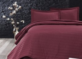 Cuvertura matlasata 220x240cm, Eponj Home, Monart Claret Red