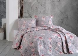 Cuvertura matlasata bumbac 100% 220x240cm + 2 fete perna, Bahar Home, Maison