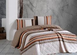 Cuvertura matlasata bumbac 100% 220x240cm + 2 fete perna, Bahar Home, Touch