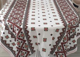 Fata de masa bumbac 100% 180x150cm, Motive Traditionale