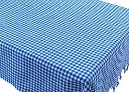 Fata de masa carouri bumbac 100%, 150x150cm, Eponj Home, Zifir Bleu/Alb