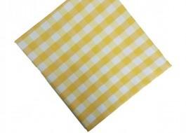 Fata de masa 140x220cm carouri galben cu alb