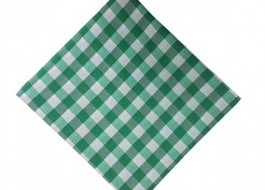 Fata de masa 140x140cm carouri verde cu alb