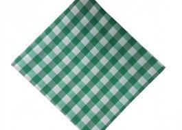 Fata de masa 140x220cm carouri verde cu alb