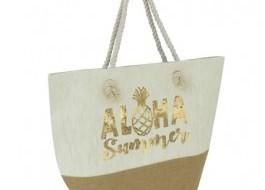 Geanta plaja Aloha Summer cu manere tip sfoara