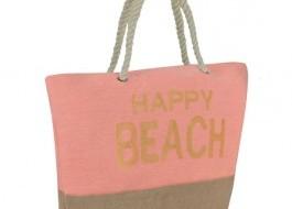 Geanta plaja cu manere tip sfoara, Happy Beach