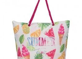 Geanta plaja cu manere tip sfoara, Summer Fruits