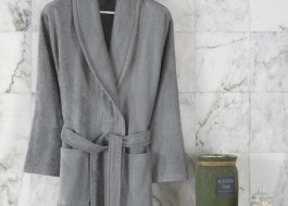 Halat de baie bambus 100%,Class Home Collection, marime XL, Bamboo Gri