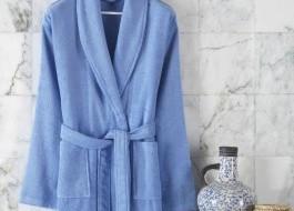 Halat de baie bumbac 100%,Class Home Collection, marime XXL, Corda Bleu