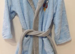 Halat baie copii pufos, cocolino, 10-12 ani, bleu