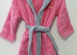 Halat baie copii pufos, cocolino, 6-8 ani, roz