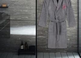 Halat de baie unisex bumbac, marime XS/S, Beverly Hills Polo Club, Gri