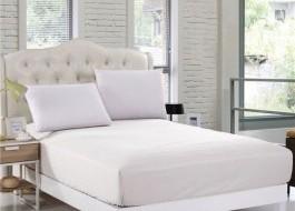Husa de pat cu elastic 100x200cm alb