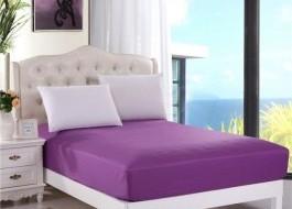 Husa de pat cu elastic 100x200cm mov