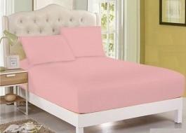 Husa de pat cu elastic 100x200cm roz