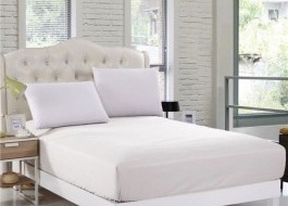 Husa de pat cu elastic 140x200cm alb