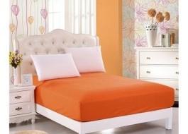 Husa de pat cu elastic 140x200cm portocaliu