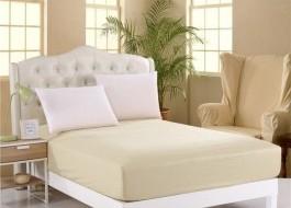 Husa de pat cu elastic 160x200cm crem