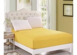 Husa de pat cu elastic 160x200cm galben