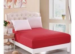 Husa de pat cu elastic 160x200cm rosu