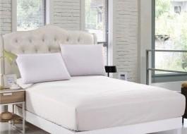 Husa de pat cu elastic ptr hotel 180x200cm alb