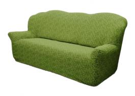 Husa multielastica jacquard canapea 3 locuri, jacquard,verde