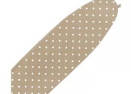 Husa elastica pentru masa de calcat, buline albe, 50x140 cm